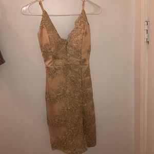 A Gold Party Dress